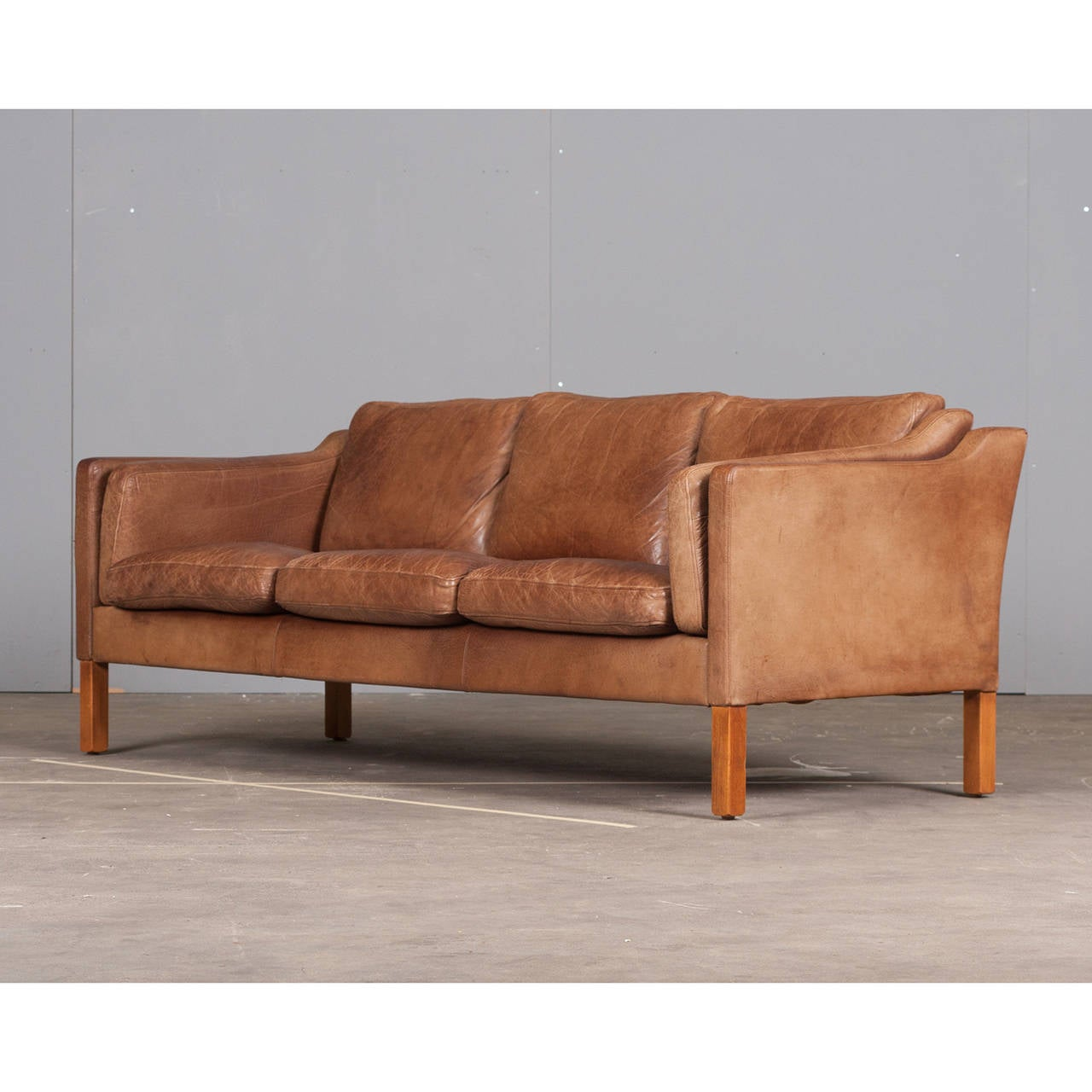 camel leather chair three seater sofa in camel coloured leather 1960s 1960