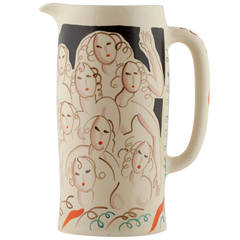 Clarice Cliff Jug with Fair Ladies by Dame Laura Knight, 1934