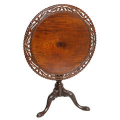 18th Century Irish Mahogany Tilt-Top Table