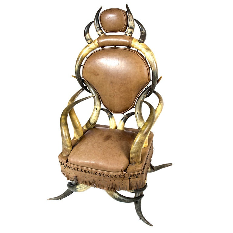 Attractive 19th Century American Longhorn Chair For Sale