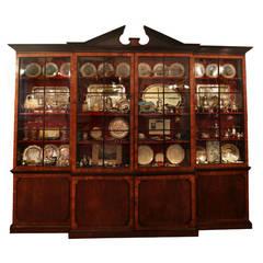 18th Century Walnut Breakfront Cabinet