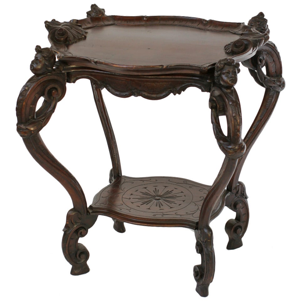 Early 19th Century Carved Mahogany Service Table