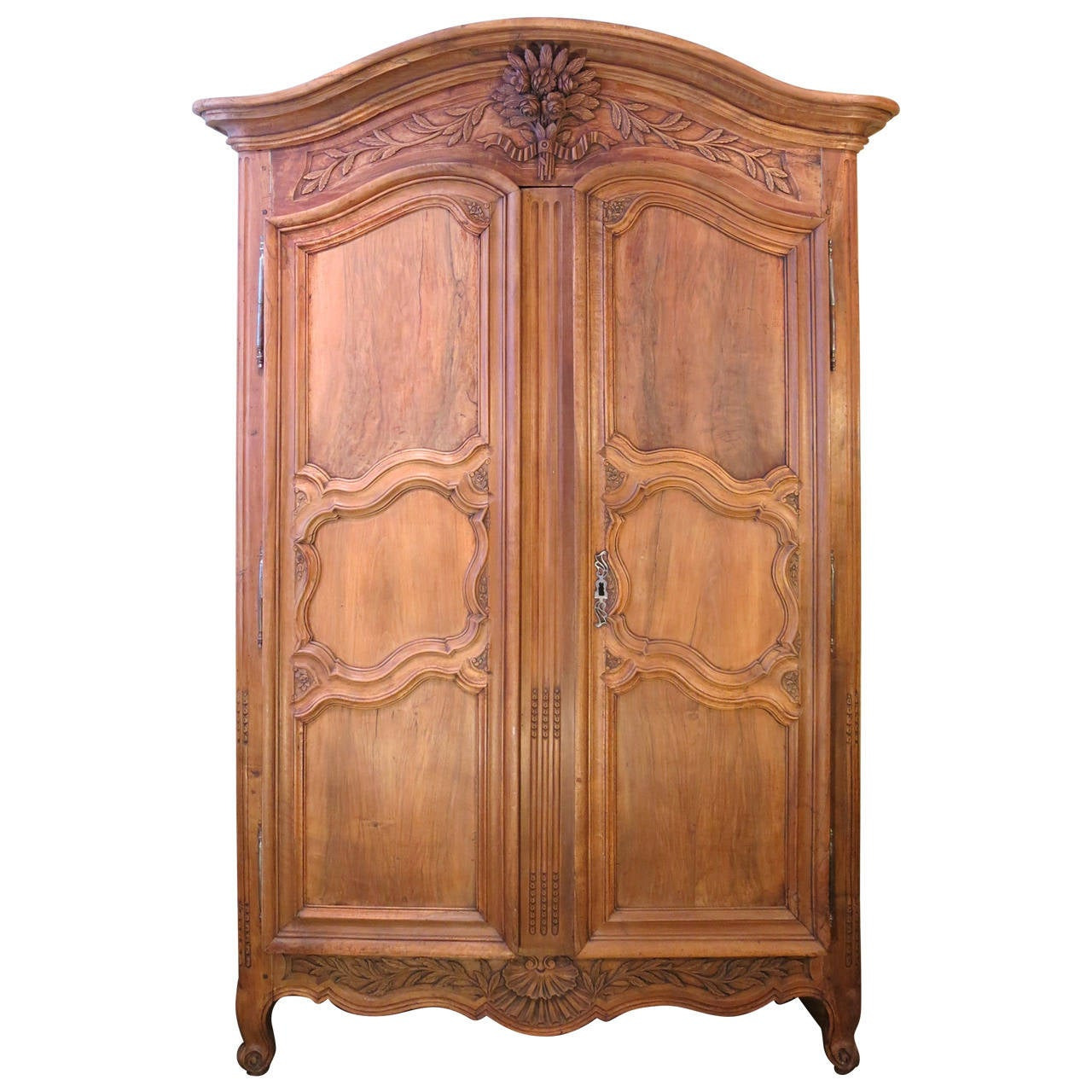 18th Century Period Regence, Louis XV Grand Walnut Armoire