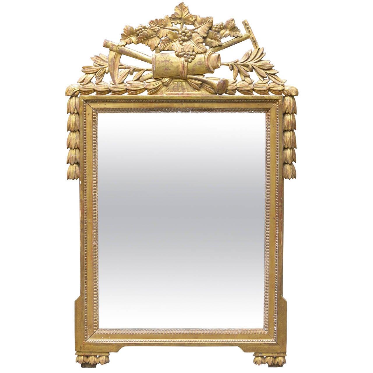 18th Century French Gilded Louis XVI Mirror
