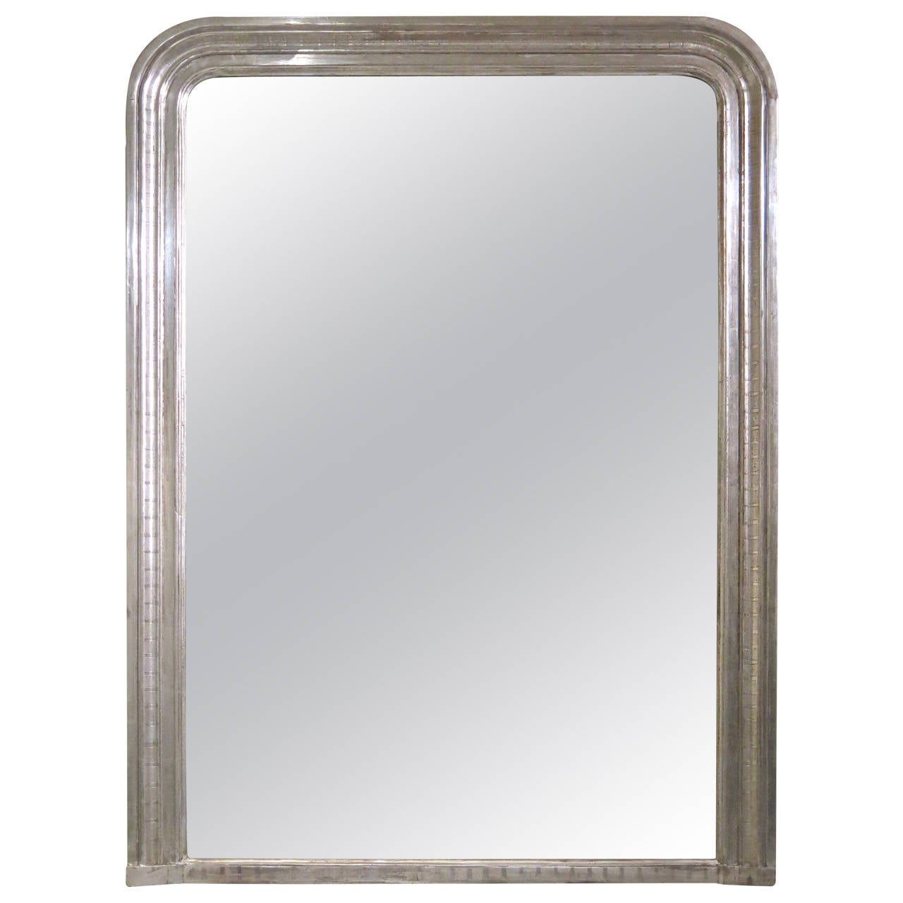 Antique french louis philippe silver leaf mirror at 1stdibs for Antique french mirror