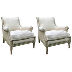 Pair of Early 19th Century Louis XVI Bergères