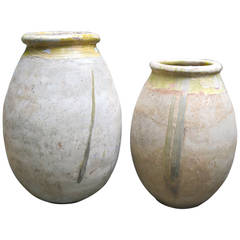 Grouping of Two Antique French Olive Jars, circa 1700