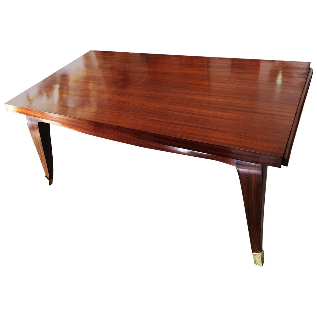 Art deco french rosewood dining table at 1stdibs - Art deco dining room table ...