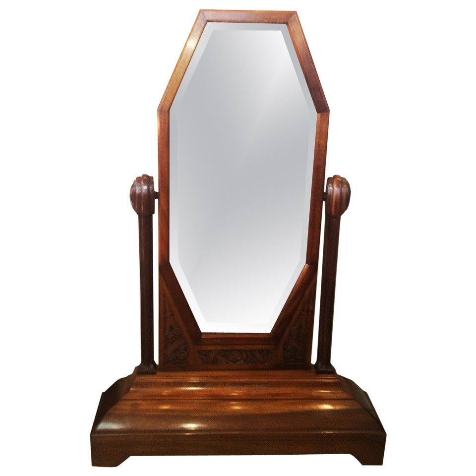 Art Deco French Cheval Floor Standing Mirror For Sale At