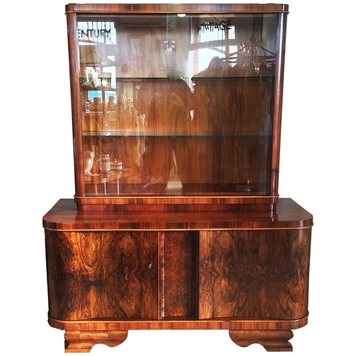 Art Deco German Modernist Sideboard Display Cabinet For Sale at ...