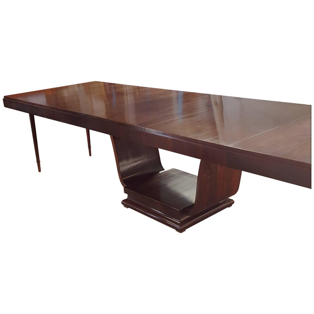 Huge Art Deco Walnut Dining Table with Three Extensions at  : 3093712l from www.1stdibs.com size 1280 x 1280 jpeg 55kB