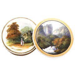 Rockingham Snuff Box, Landscapes Attributed to William Willis Bailey, circa 1835