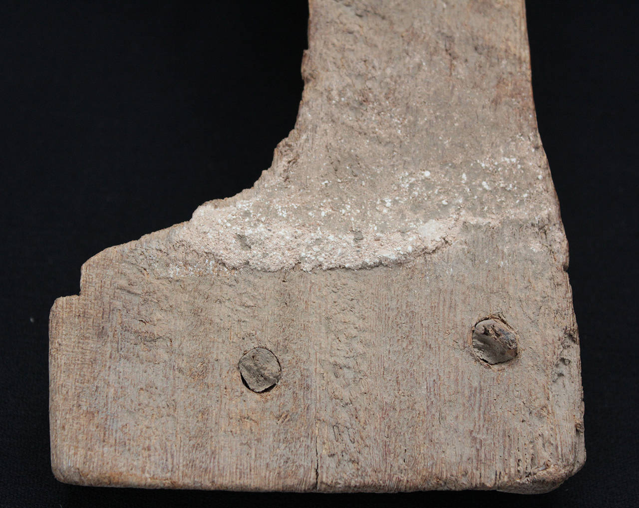 18th Century and Earlier Egyptian Wood Fragment, Standing Pharaoh, Possibly a Chair Fitting, Late Period For Sale