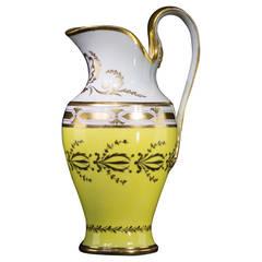 La Courtille Neoclassical Jug, Yellow Ground, ex Gardiner Collection, circa 1785