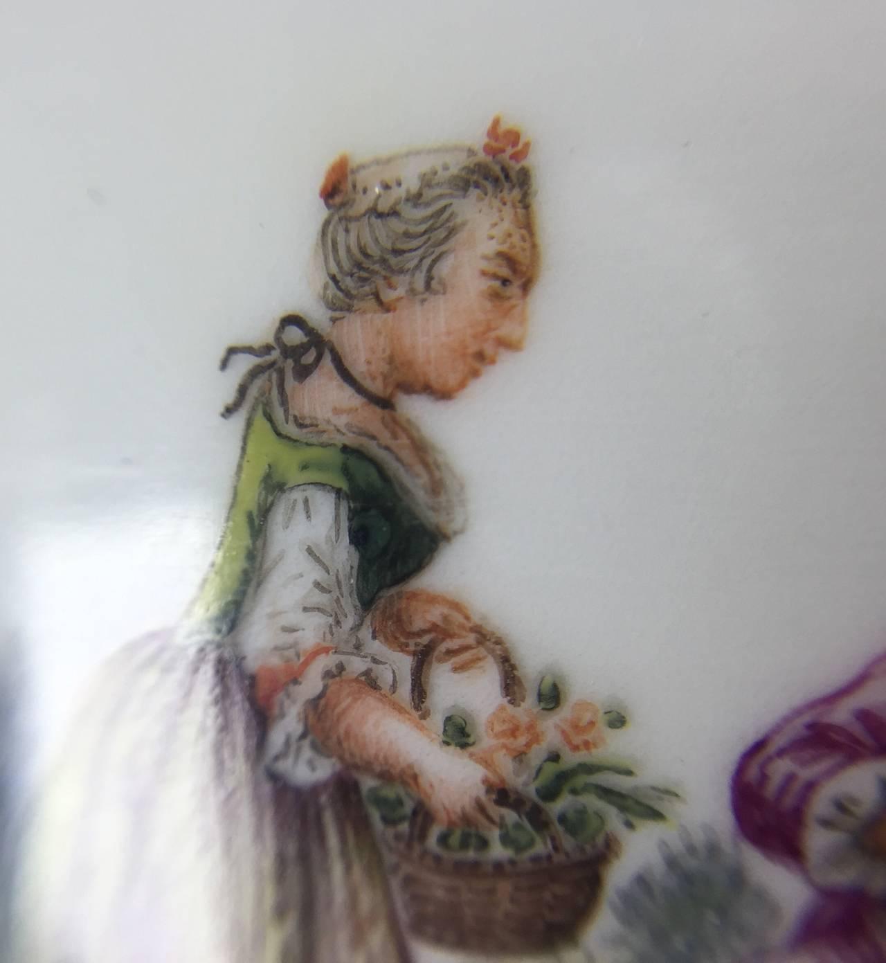 Meissen Quatrefoil Shape Cup and Saucer with Children, circa 1745 8