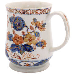 Bow Tankard in the Imari Palette, Blue 'I' Mark, circa 1760