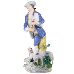 Meissen Figure of a Piping Shepherd, J.J. Kandler, circa 1755
