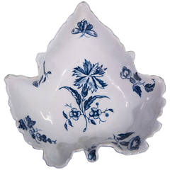 Isleworth Porcelain Pickle Dish, Gilliflower Pattern, circa 1770