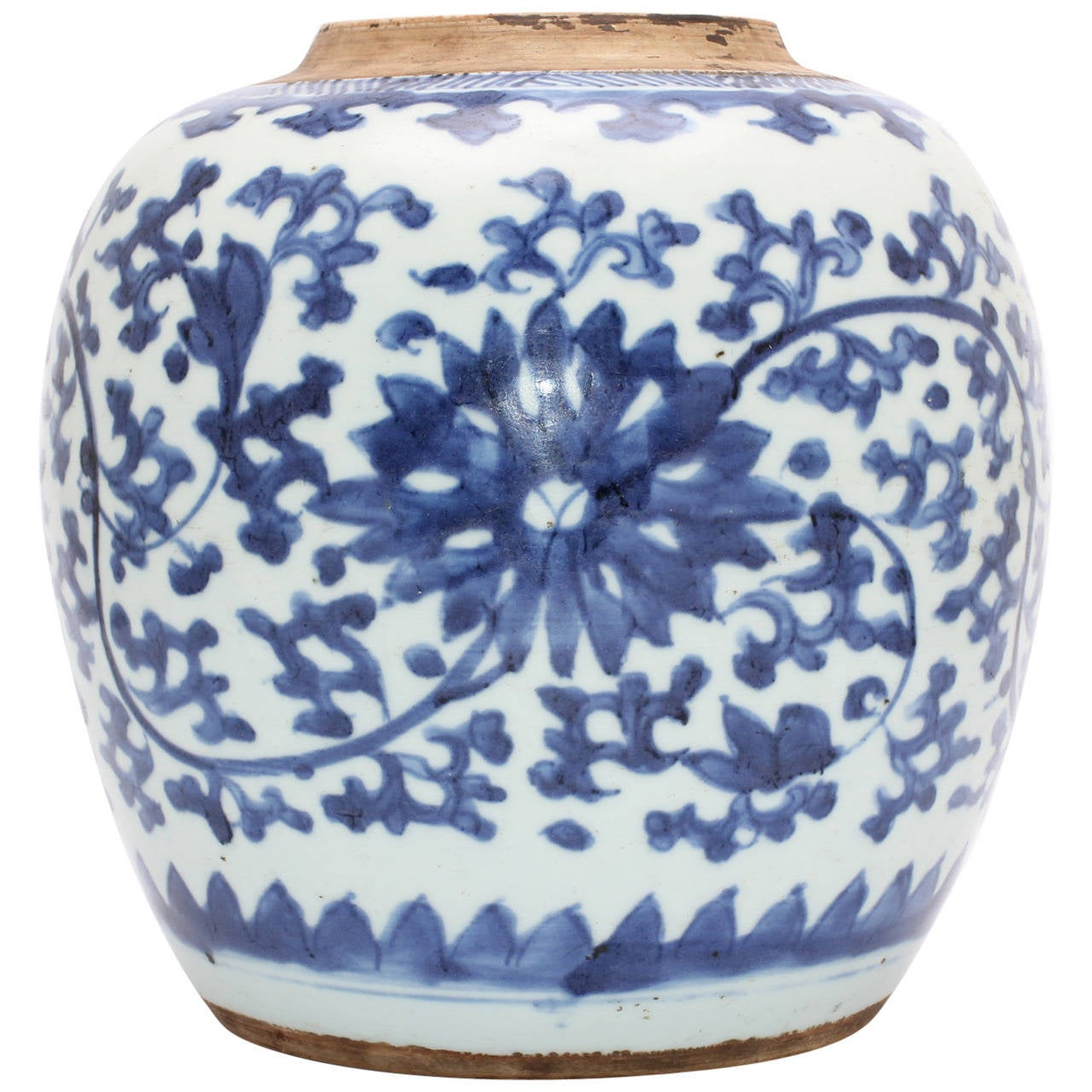 Chinese Blue And White Ginger Jar 18th 19th Century For