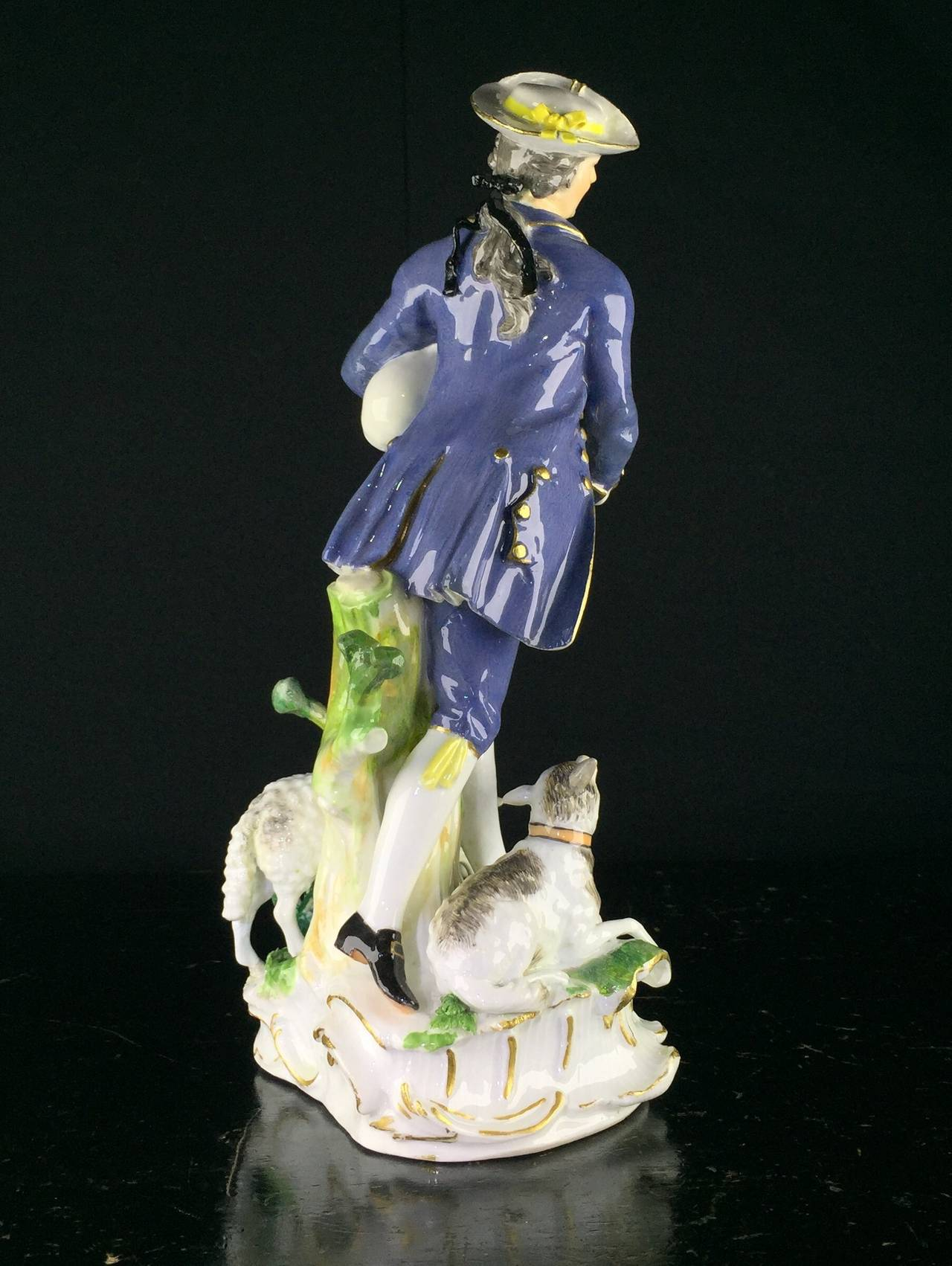 German Meissen Figure of a Piping Shepherd, J.J. Kandler, circa 1755 For Sale