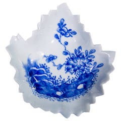 Vauxhall Leaf Shape Pickle Dish, 1753-1764