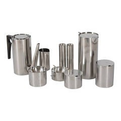 Set of Nine Items of the Cylinda Series by Arne Jacobsen for Stelton