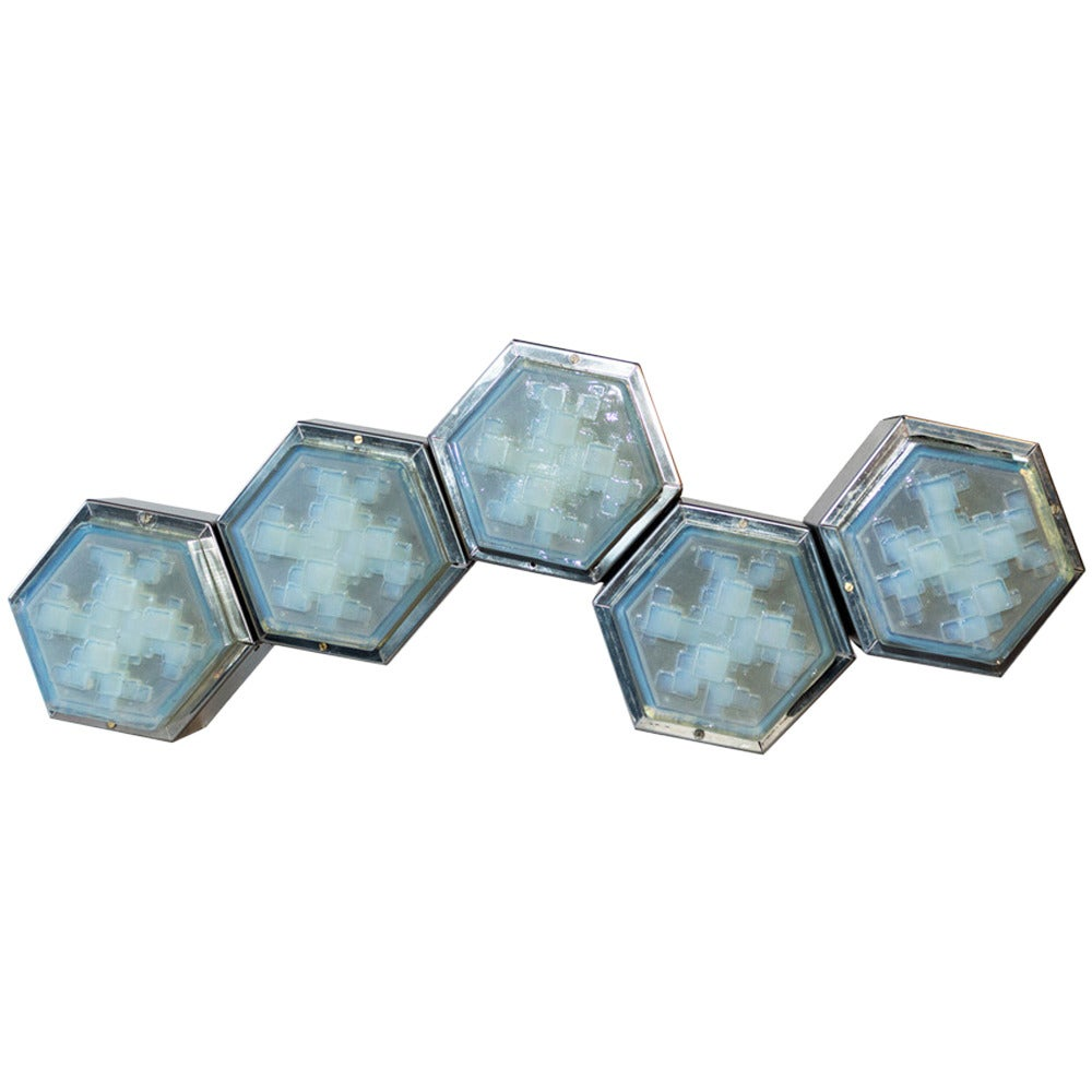 Hexagonal Wall Light By Poliarte At 1stdibs