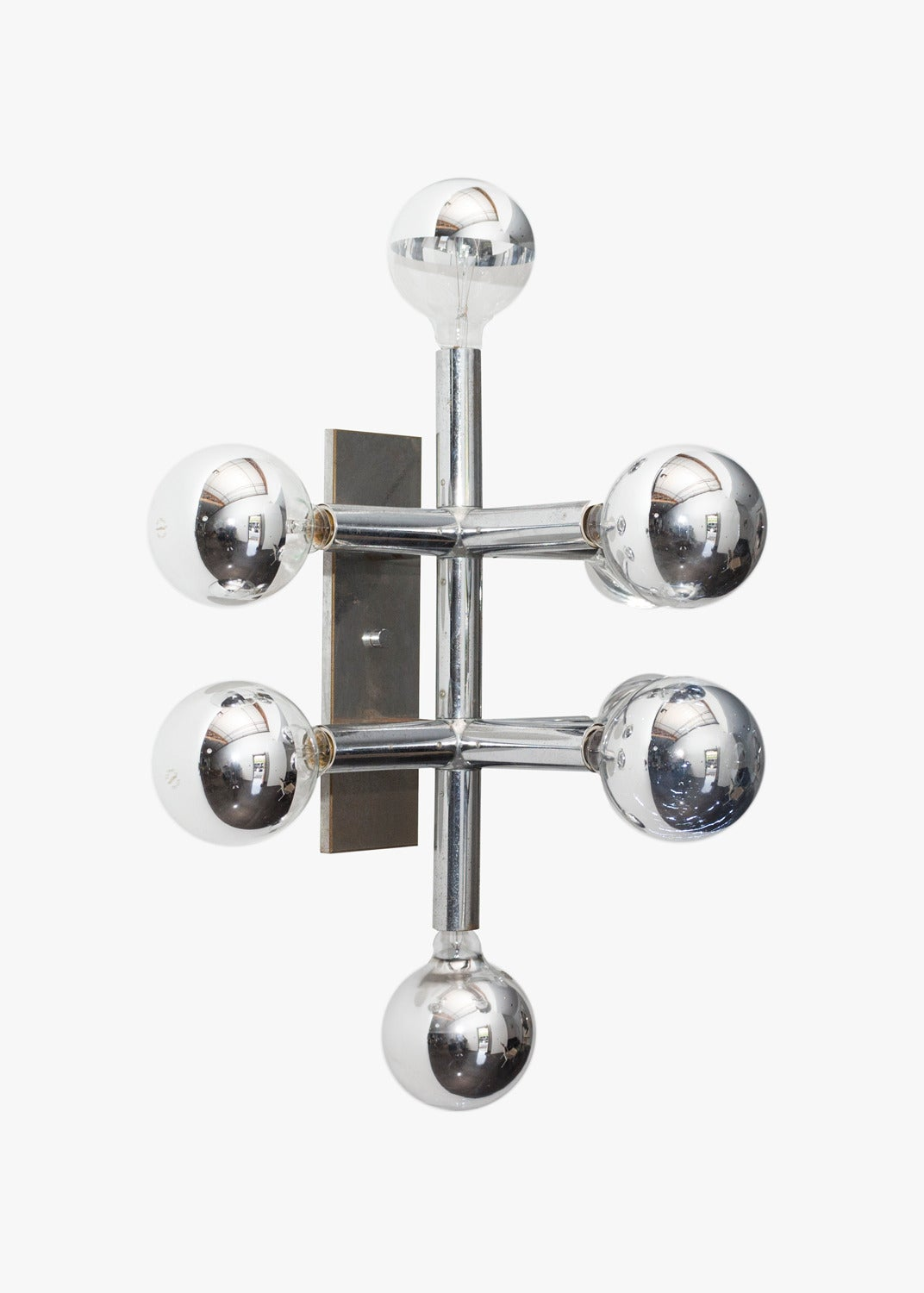 Vintage Chrome Wall Light For Sale at 1stdibs