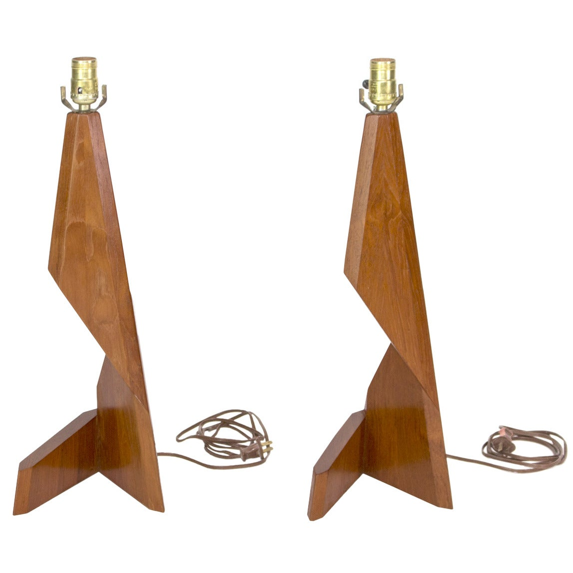 Pair of Sculptural Danish Table Lamps by George Tanier