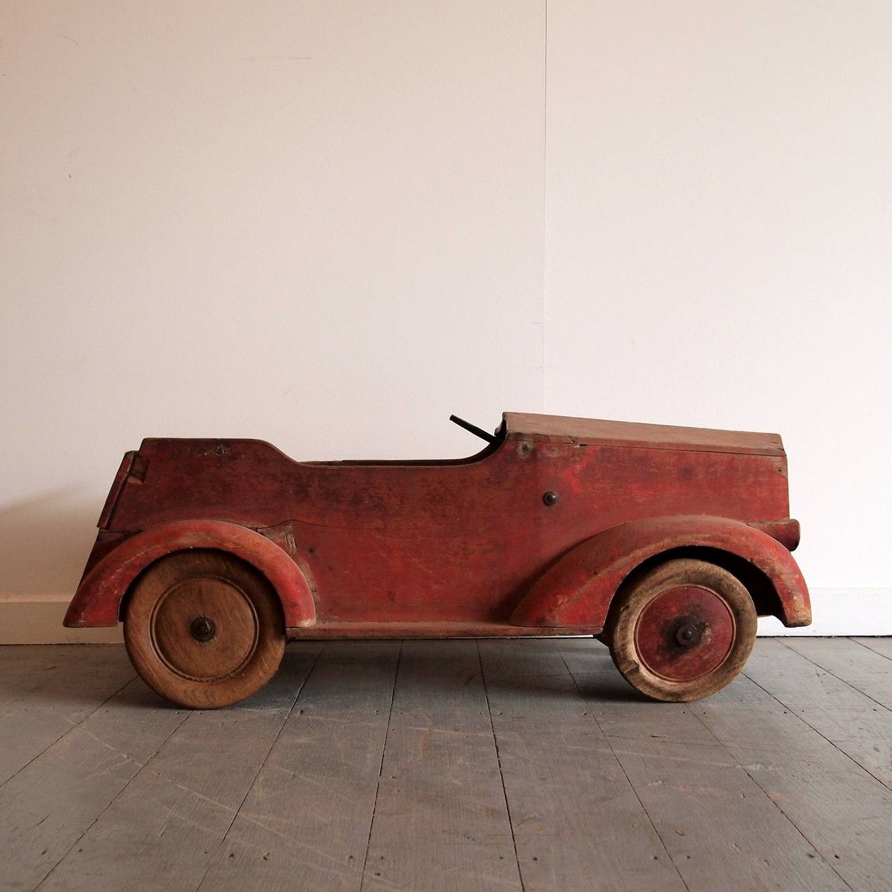 Painted timber pedal car at stdibs