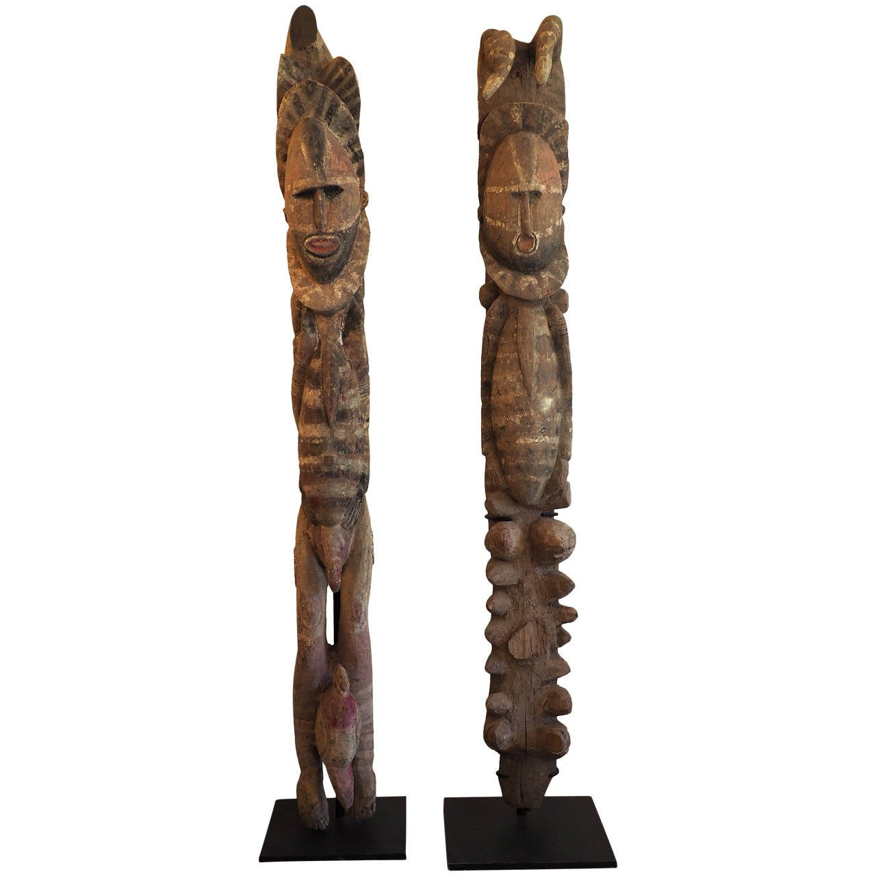 Home Interiors Gifts Inc Pair Of Rare Abelam House Posts Papua New Guinea At 1stdibs
