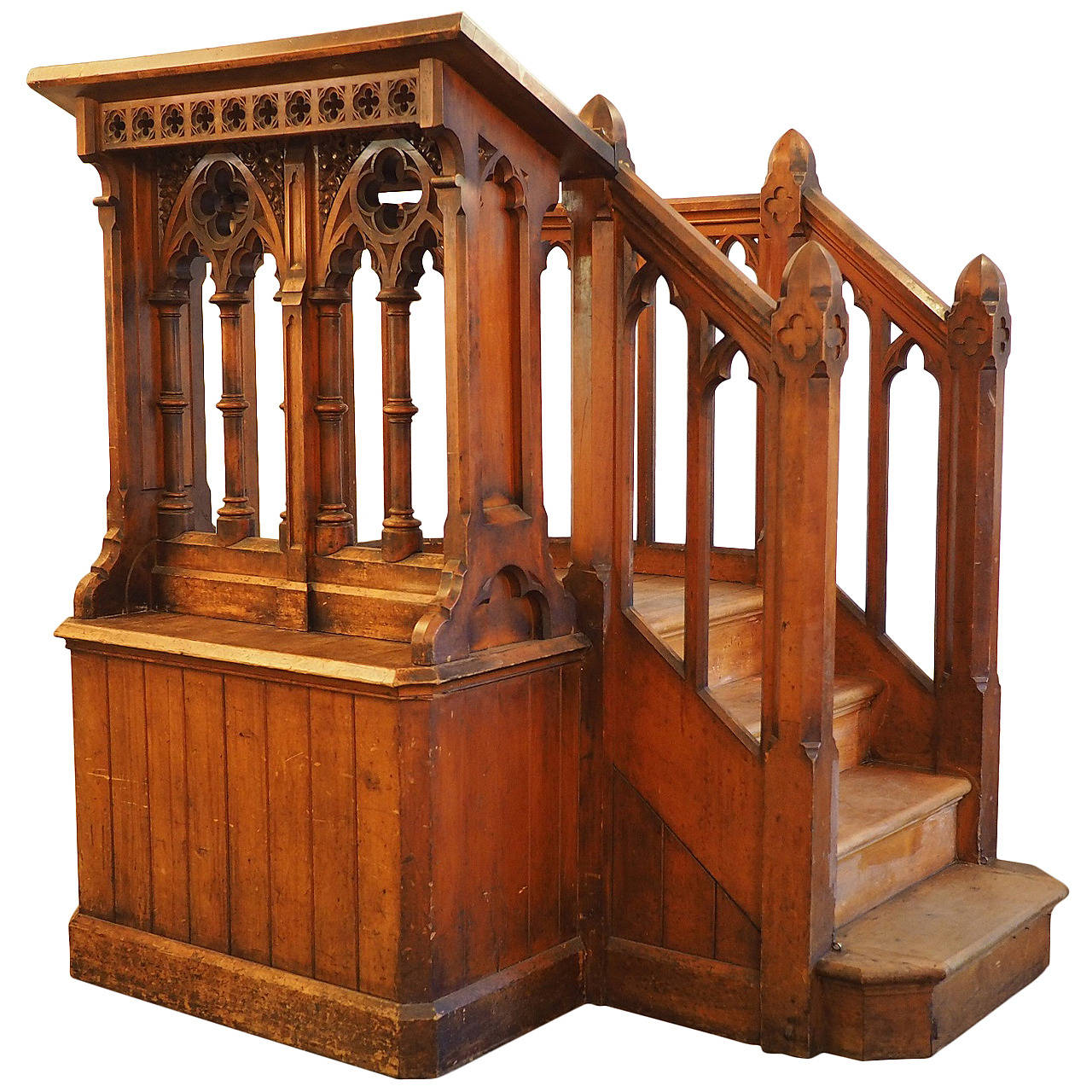 Victorian Carved Church Pulpit In The Gothic Style At 1stdibs