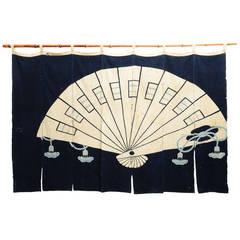 Antique Japanese Indigo Noren