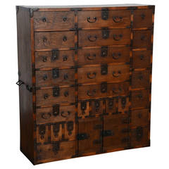Antique Japanese Storage Chest, Edo Period, Early 19th Century