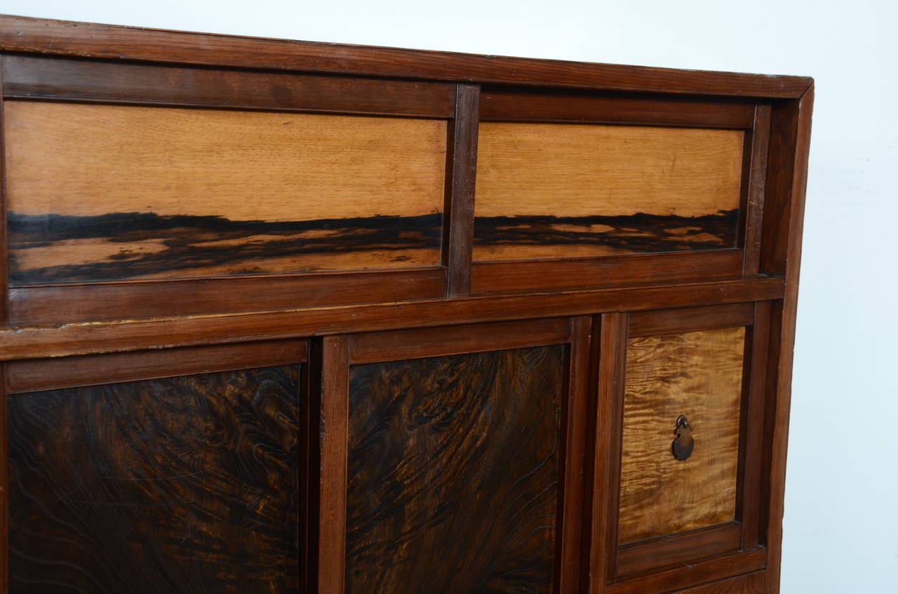 brown kitchen cabinet vintage japanese tea cabinet taisho period circa 1920 at 12562