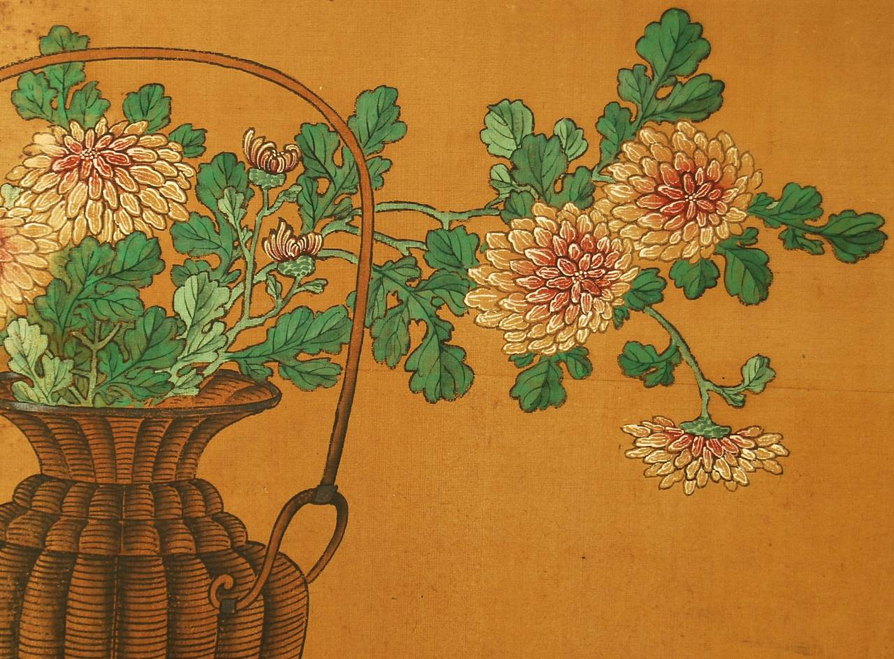 Antique Japanese Two-Panel Screen by Yanagisawa Kien In Good Condition For Sale In Prahran, Victoria
