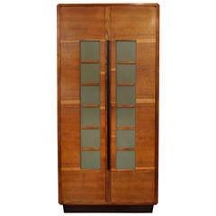 Cabellini & Co Oak Modernist Cupboard, Italy, circa 1930