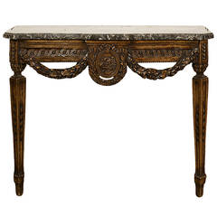 French Louis XVI Period Console Table
