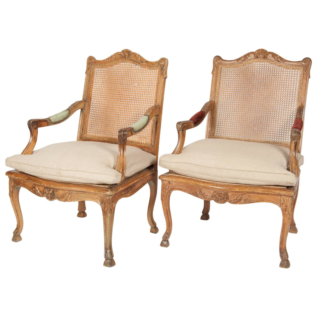 Pair Of 19th Century Regence Style Fauteuils Of Large