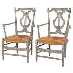 Superb Pair of French Provincial Carver Chairs, circa 1800