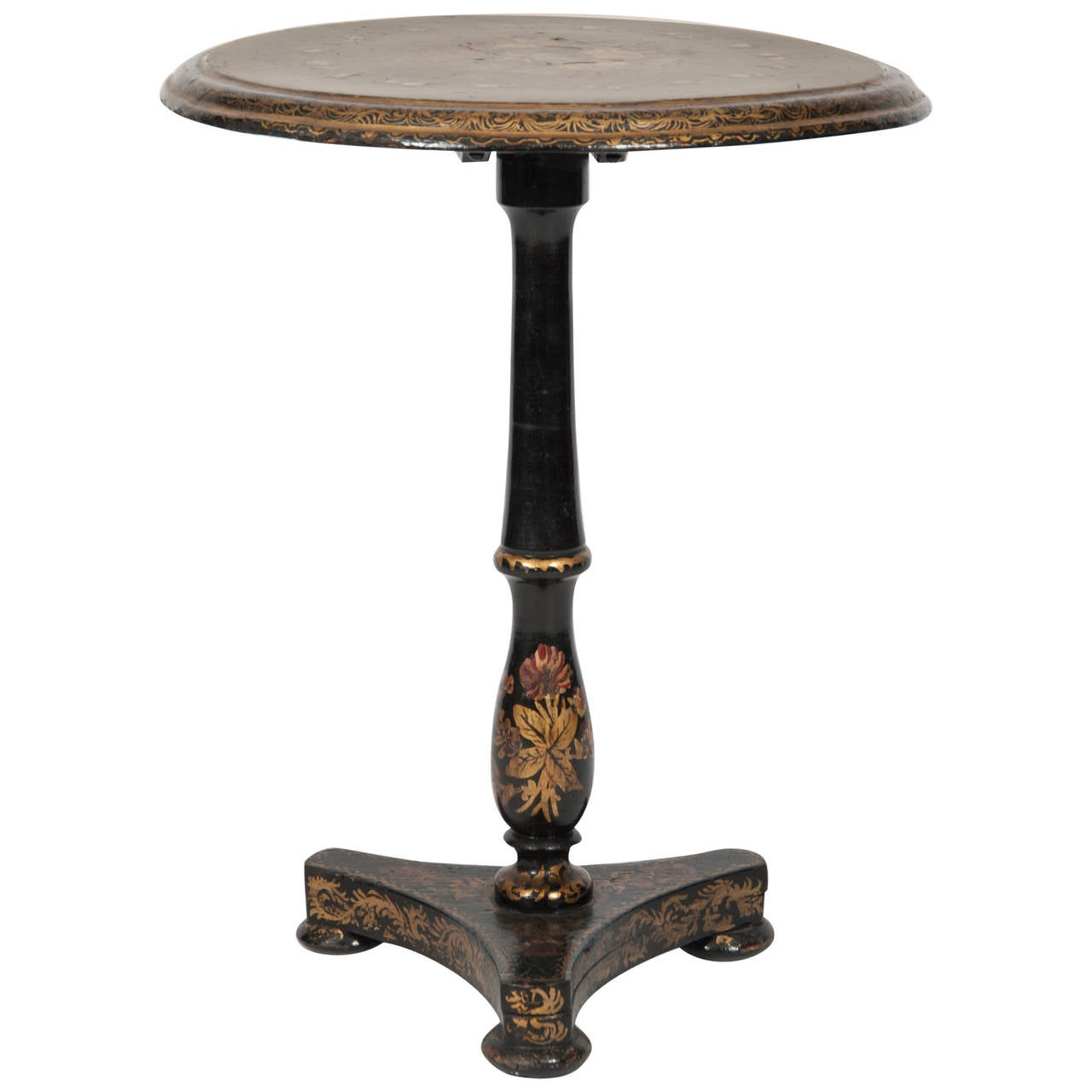 French circa 1870 papier m ch side table for sale at 1stdibs - Archives departementales 33 tables decennales ...