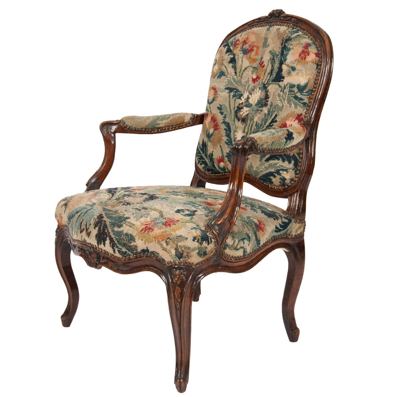 french circa 18th century louis xv period fauteuil for sale at 1stdibs. Black Bedroom Furniture Sets. Home Design Ideas