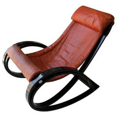 'Sgarsul' Rocking Chair; Designed by Italian Designer Gae Aulenti