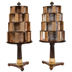 Regency Faux Rosewood and Gilt Book Stands