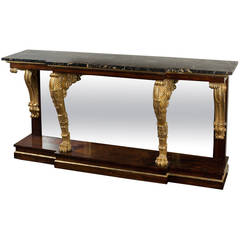 George IV Period Rosewood Console Table