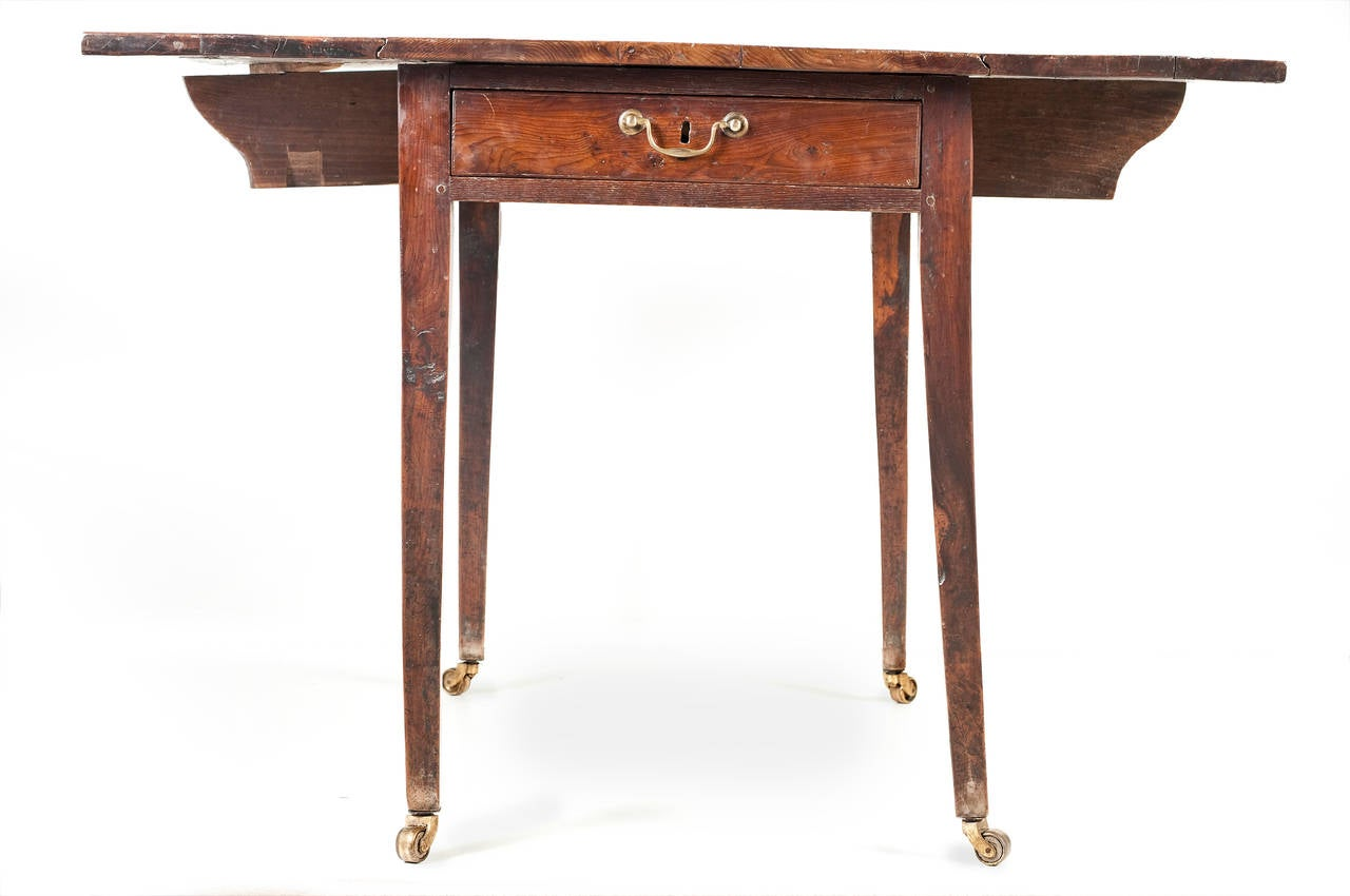 George iii solid yew wood pembroke table for sale at 1stdibs for Yew sofa table