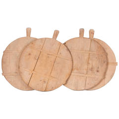 Four French Pine Cheese Boards, First Half 19th Century