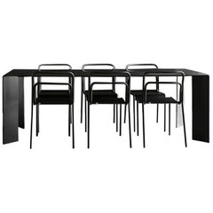Acier Black Dinning Table in Handcrafted Steel