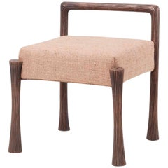 Victor Stool by Francis Sultana, Bronze, Upholstery