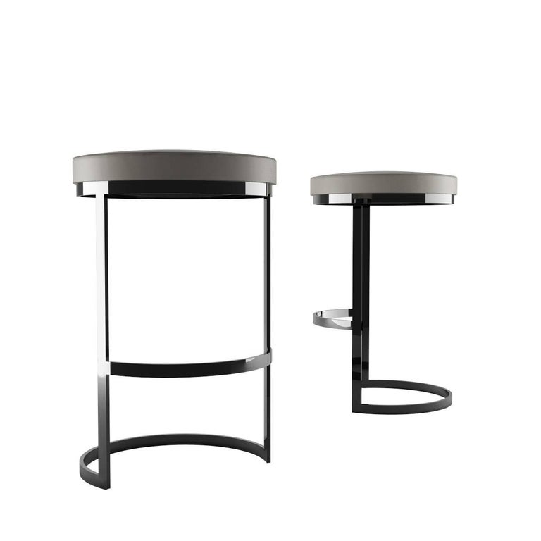 This beautiful counter stool also is available in bar stool height.   Measures: H 25.2 / 64 cm  Inspired by Milano, Italy's cultural metropolis of design and fashion, Zalaba's exclusive Ola collection reminds of the 1970s clean and organic